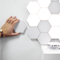 Creative hexagonal wall lamp LED wall lamp magnetic living room bedroom study decoration furniture lamps new 2019