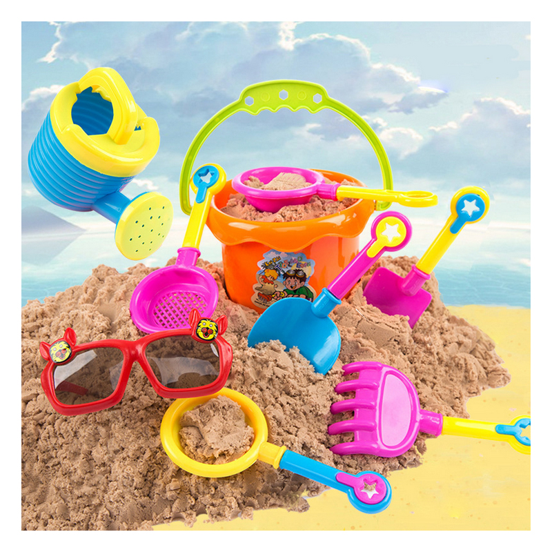 N122 Selling beach toys children beach play water play sand toy car suit play sand outdoor toys 9 piece one sets