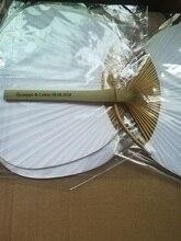 Özelleştirilmiş Şık Kağıt Kürek El Fanlar Bambu Çerçeve ve Kolu Düğün Parti Iyilik Hediyeler Kürek kağıt yelpaze Ispanyolca Fan