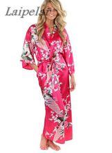2018 Silk Bathrobe Women Satin Kimono Robes For Floral Bridesmaids Long Robe Bride Dressing Gown