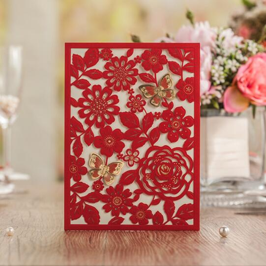 Online Get Cheap Red Wedding Invitations Aliexpress – Cheap Red Wedding Invitations