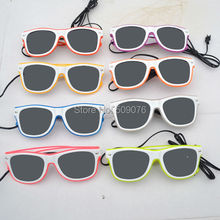 Free Shipping10pcs/lot sound Voice Activate glasses El Wire Glow Sun Glasses white frame DJ Bright Light Safety Light Up glasses free shipping10pcs fqpf7n60 7n60 to 220f new ic