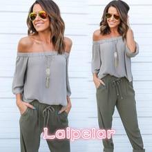 2018 Summer Style Women Off Shoulder T Shirt Tops Loose Cotton Half Sleeve T-shirt Female Shirts Laipelar