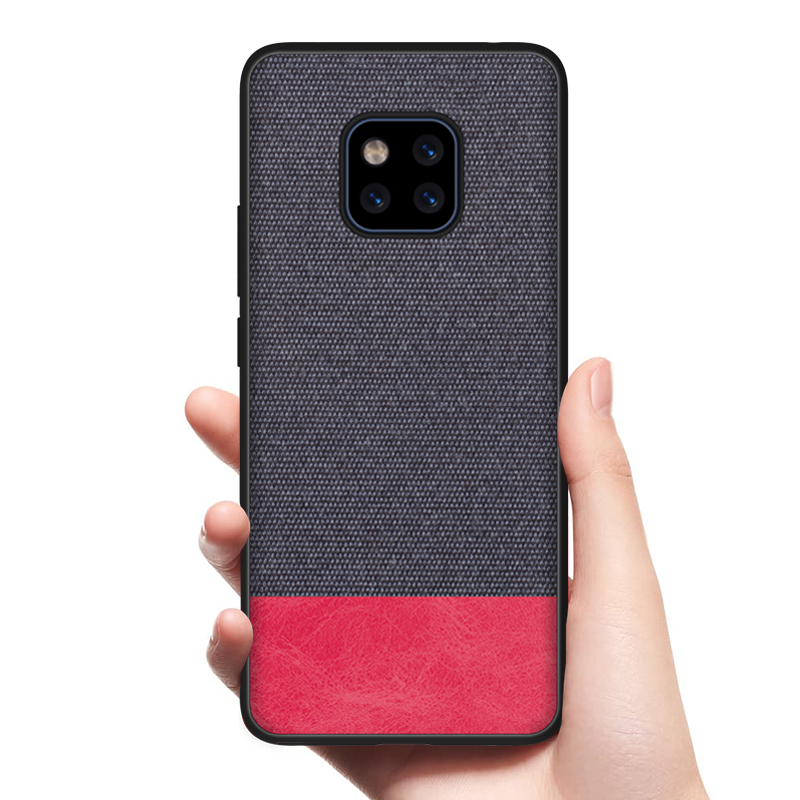 CoolDeal for Huawei Mate 20 Pro case Mate20 back cover soft silicone edge fabric / capa