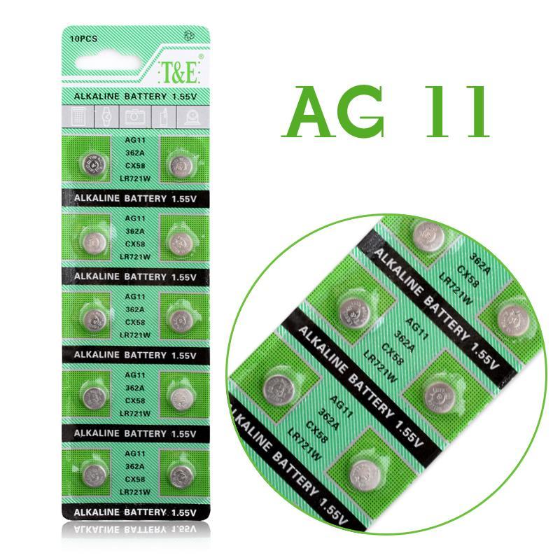 10 Pcs For Watch Button Battery AG11 362 SR721SW SR58 TR721 Alkaline Coin Cell Button Batteries