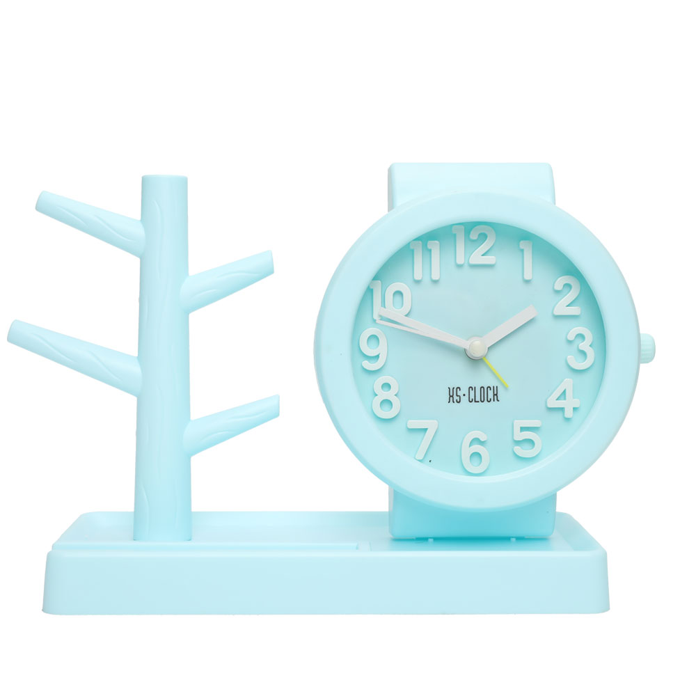 Desk Accessories & Organizer Intelligent Topsthink Creative Alarm Clock Pencil Holder Cute Novelty Double Parts Multi-function Pen Holder Wholesale Relieving Rheumatism And Cold