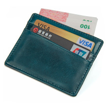 100% Guarantee Leather Slim Wallet Men Card Holder Money Sleeve RFID Credit Case R-8101K