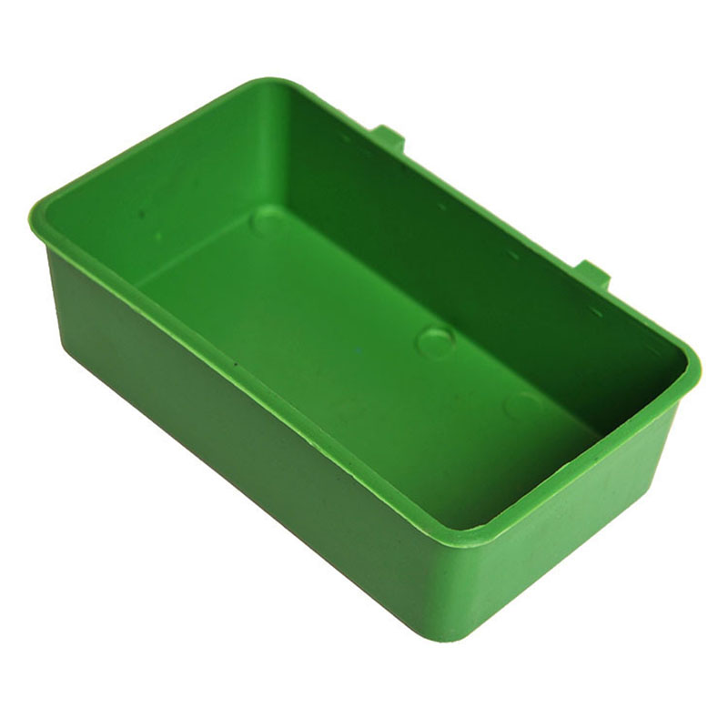 1 PC New Plastic Bird Food Feeders Birds Handle Water Box Cup Little Pet Multi-Function Parrot Bath Tub Food Tray Supplies P25