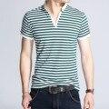 Новые Мужские Тонкий stripes поло мода 2016 Лето мужчины рубашки поло с коротким рукавом Повседневная бодибилдинг мужчины полосатые рубашки поло