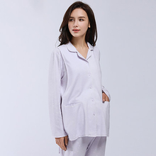 Casual Maternity Clothes Pregnancy Autumn Home Suit For Pregnant Women Long Sleeve Cotton Maternity Nightgown Nursing