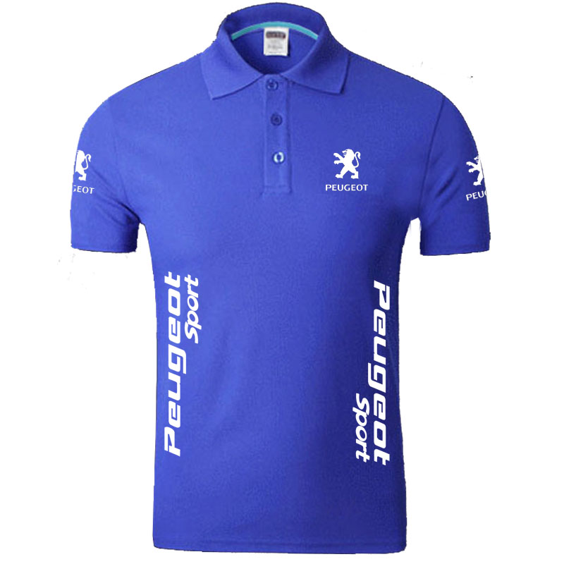 Summer Peugeot logo Men   Polo   Shirt Brand Clothing Cotton Casual   Polo   Shirt Short Sleeve   Polo   Shirt