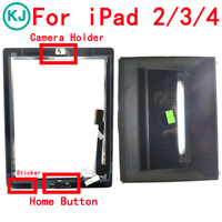 LCD Touch Panel For IPad 2 3 4 Display Touch Screen Digitizer Front Glass With Home