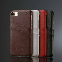 Litchi Style Genuine Leather Case For Iphone 7 4 7 For Iphone 7 Plus 5 5
