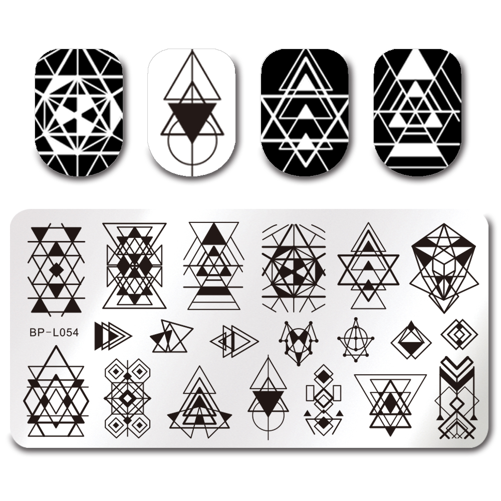Geometric Reverse Stamping Nail Art Born Pretty Review