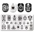 BORN PRETTY Rectangle Stamp Template Geometry Design 12*6cm Manicure Nail Art Image Plate BP-L054