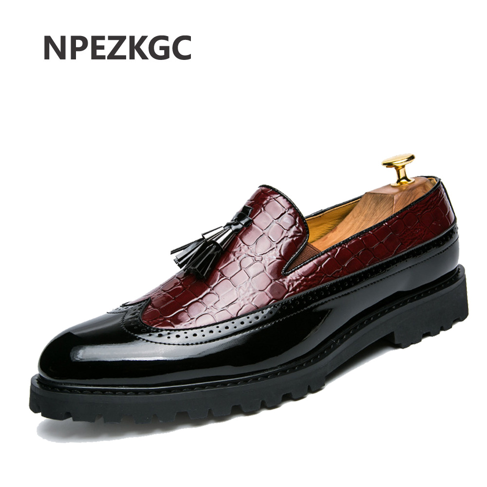 Men Casual shoes breathable Leather Loafers Office Shoes For Men Driving Moccasins Comfortable Slip on Fashion Tassel Shoes