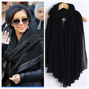 New Fashion Women Men Scarf Cotton Viscose Soft Ladies Scarf Shawls Female Wraps Pashmina Muslim