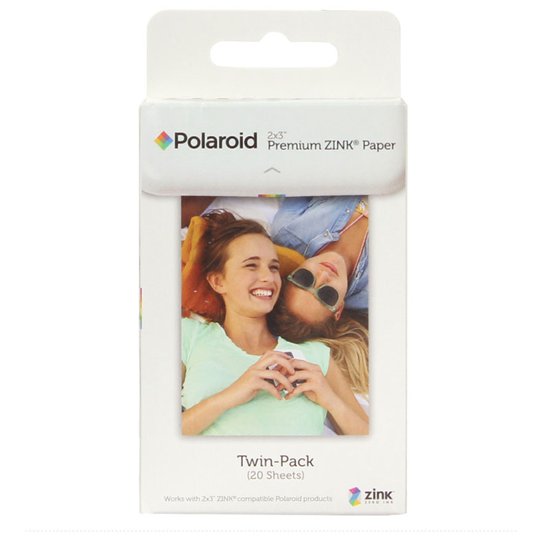 20 PCS Premium ZINK Zero Ink Paper Z2X350 for Polaroid Instant Photo Camera Z2300 Snap touch