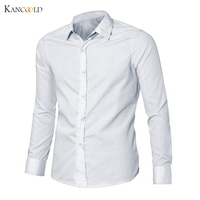 Chemise Hommes Luxe Élégant Casual Robe Slim Fit Chemises Casual Manches Longues Camisas Masculino Chemise drop shipping homme shirtsGBY