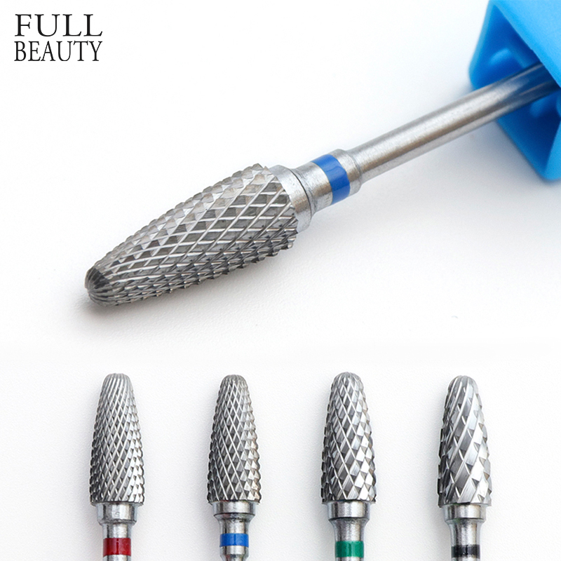 1pcs Flame Carbide Head Nail Art Cutter F/M/C/XC Mills Tungsten Bits For Manicure Drill Accessories Electric Nail File CHF0615