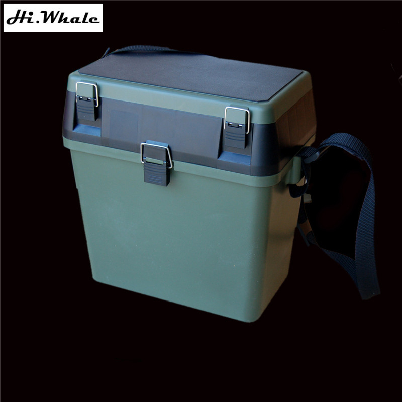 Military green fishing box lure tool box multifunction for Large tackle boxes for fishing