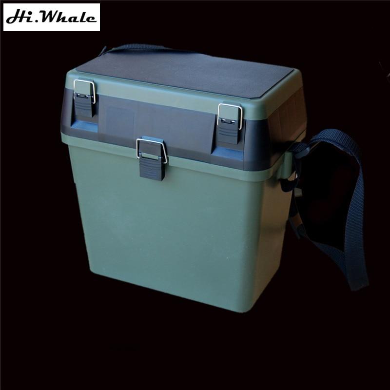 Military green fishing box lure tool box multifunction seat large fishing tackle box