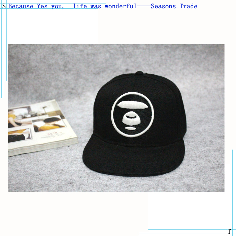 2015 Military style Camouflage cap The Korean version BAPE AAPE Ape head  Embroidery Flat-brimmed hat 5c11d18a4765