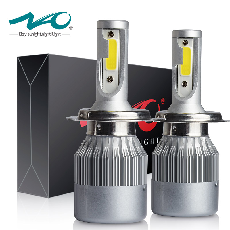 NAO H4 Car headlight H7 LED H11 H8 H9 3800LM 36W 9005 HB3 9006 HB4 H3 880 H27 9004 COB Car LED Headlight 12V 24V 6000K White T7 hot new h1 headlight bulbs 10000lm h4 led 9v 12v 24v 36v 9005 hb3 9006 hb4 h7 led car lights 6000k 100w h8 h9 h11 cob spot lamp