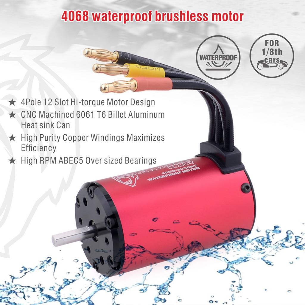 Image 5 - SURPASSHOBBY KK Waterproof Combo 4068 2050KV 2650KV Brushless Motor w/120A ESC for 1/8 RC Drift Racing Car-in Parts & Accessories from Toys & Hobbies