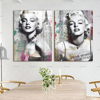 Mur Art Photo prints Marilyn Monroe sur toile home decor Toile peinture Mur affiche décoration pour salon no frame