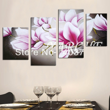 Modern abstract  Oil Painting On Canvas huge wall art nice pink flower Free shipping