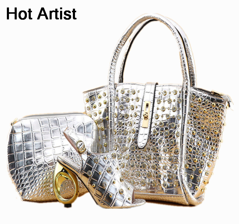 Hot Artist African Party Woman Shoes And HandBag Sets Italian Shoes And Bags To Match Shoes with Bag Set Sales In Women hot artist shoes and bag set african sets italian shoes with matching bags high quality women shoes and bag to match set mm1055