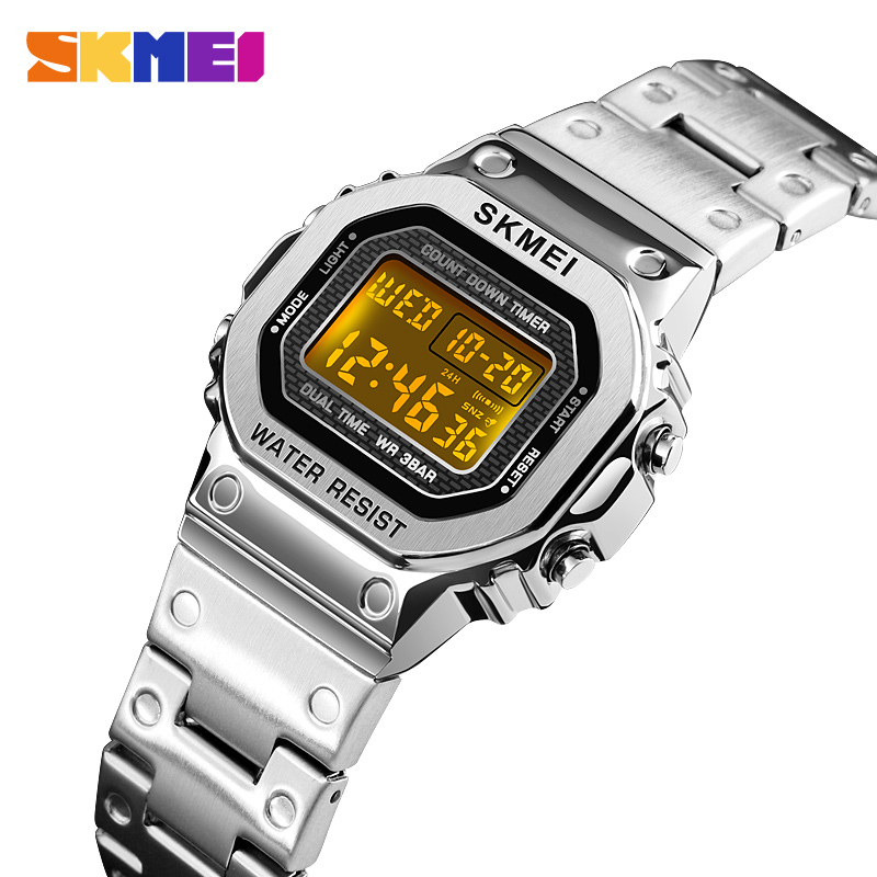 <font><b>SKMEI</b></font> Casual Female Waterproof Wristwatch Women Ladies Digital Watch Chronograph Calendar Sport Watches Clock Montre Femme <font><b>1433</b></font> image