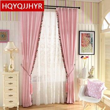 europese luxe dubbelzijdig chenillev verduisterende gordijnen voor slaapkamer hoogwaardige roze gordijnen voor woonkamer effen gordijn