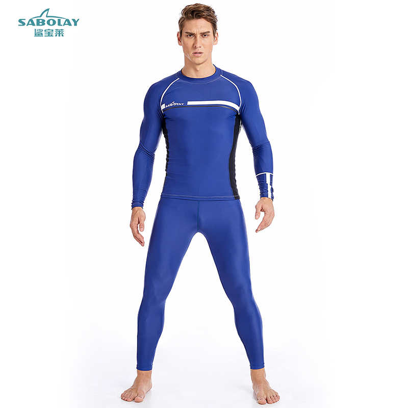 SABOLAY Surfing clothes Men Water Sports Anti-UV quick-drying swimsuit beach Swimwear Rash Guards Diving suit T shirt Female