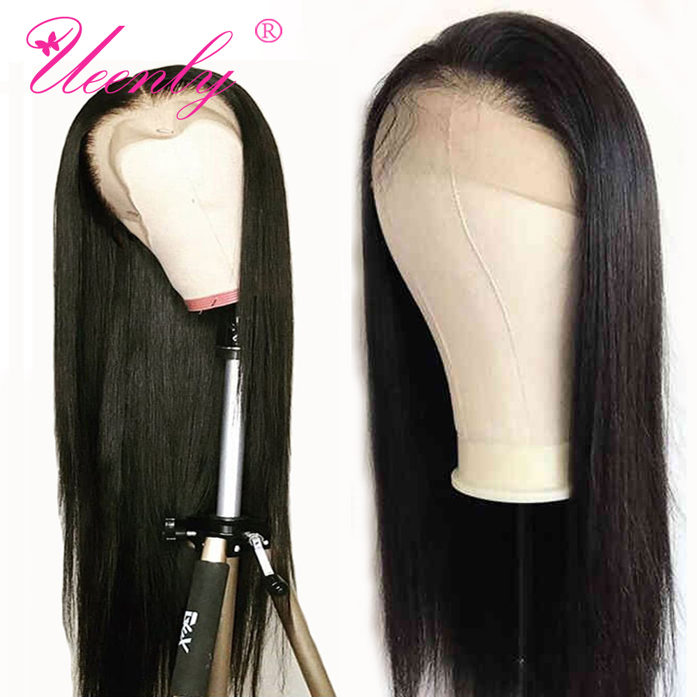 UEENLY Wig Lace-Front-Wigs Human-Hair Pre-Plucked Straight Brazilian with Baby