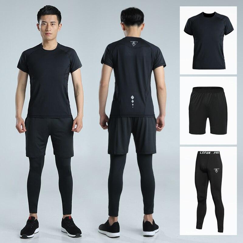 UTTER J6 мужские желтые компрессионные штаны с принтом, спортивные колготки для бега, леггинсы для бодибилдинга, бега, фитнеса, тренажерного за... - 5