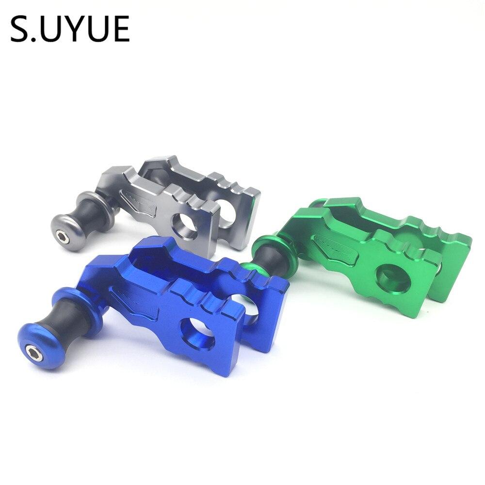 S.UYUE Motorcycle CNC Frame Stands Screws sliders Swingarm Spools Slider Swingarm Spool Adapters Mounts for Kawasaki Z900 2017