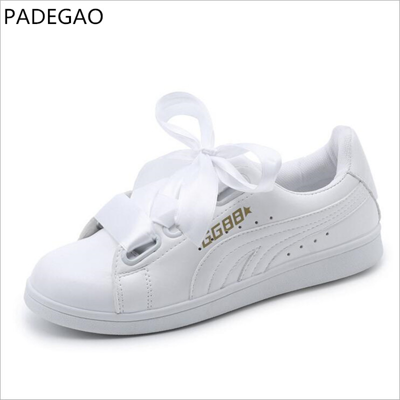 ashion white shoes Women spring autumn flat ribbon butterfly loafers street lace up casual shoes rihanna celebrity cross tie