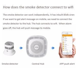 Беспроводной умный датчик дыма HEIMAN Zigbee с противопожарной сигнализацией CE ROSH EN14604, одобренный датчик дыма zigbee