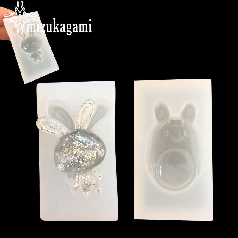1pcs UV Resin Jewelry Liquid Silicone Mold Cartoon Animal Rabbit Resin Molds For DIY Intersperse Decorate Making Molds