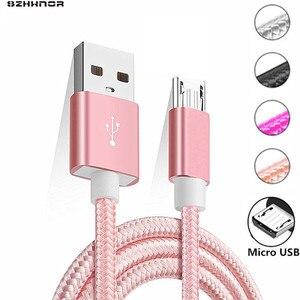 Розовый Новый 2 м 3 м тканевый нейлоновый плетеный кабель Micro USB для xiaomi redmi note 5 6 pro 4x Samsung Blackberry HTC тканевый плетеный кабель