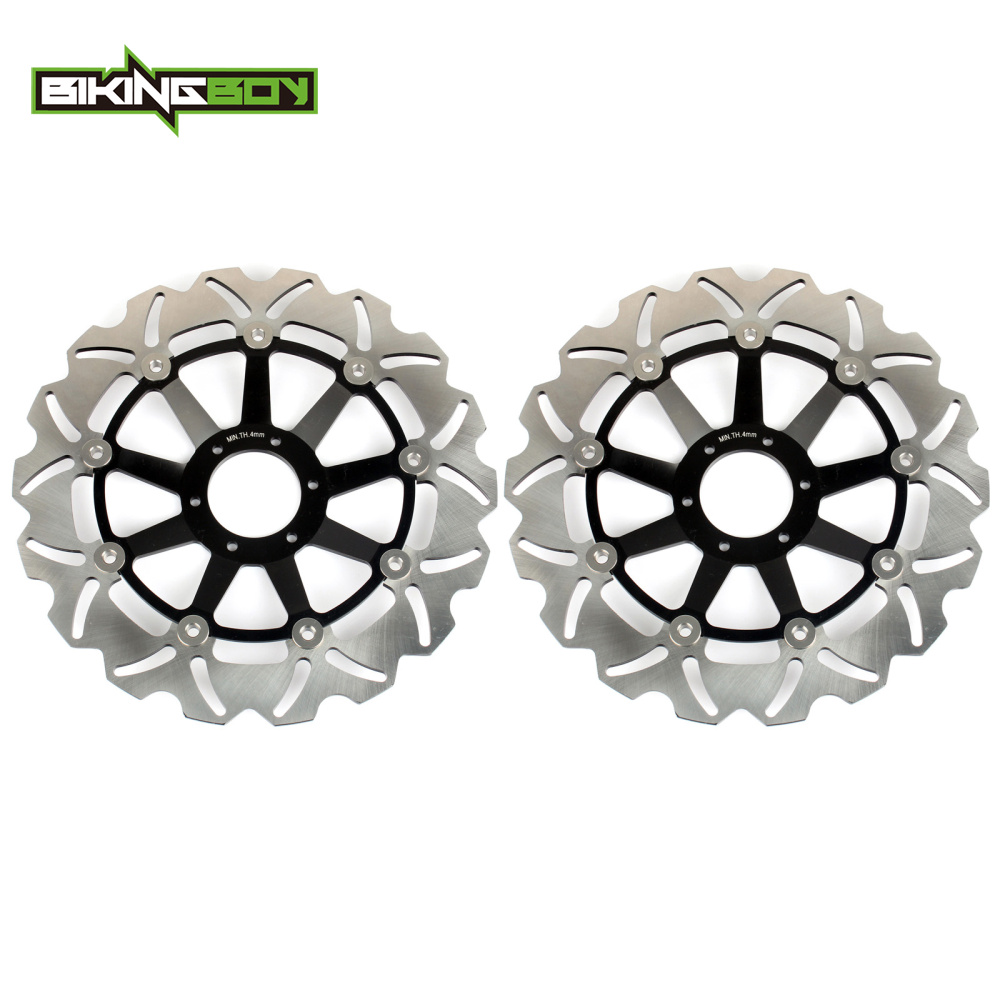 BIKINGBOY Full Set Front Brake Discs Rotors Disks for Honda CB 600 F Hornet 00 01 02 03 2004 2005 2006 CB 600 S Hornet 2000-2004