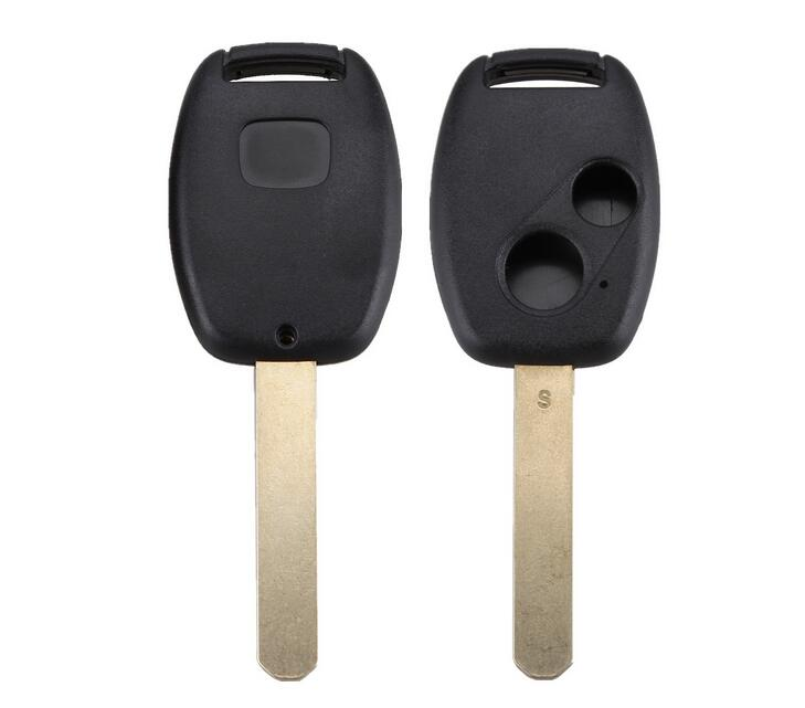 UNCUT BLADE 2 BUTTONS DEMOTE KEY SHELL CASE FOB COVER FOR HONDA NEW - Авточасти - Снимка 1
