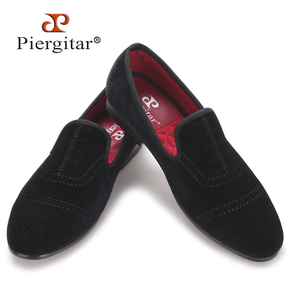 Piergitar new style bullock style punch men velvet shoes fashion casual men loafers men's flat  size US 4-17 freeshipping aroma diffuser atomizer air humidifier led ultrasonic purifier fragrant 300ml pp y05 c05