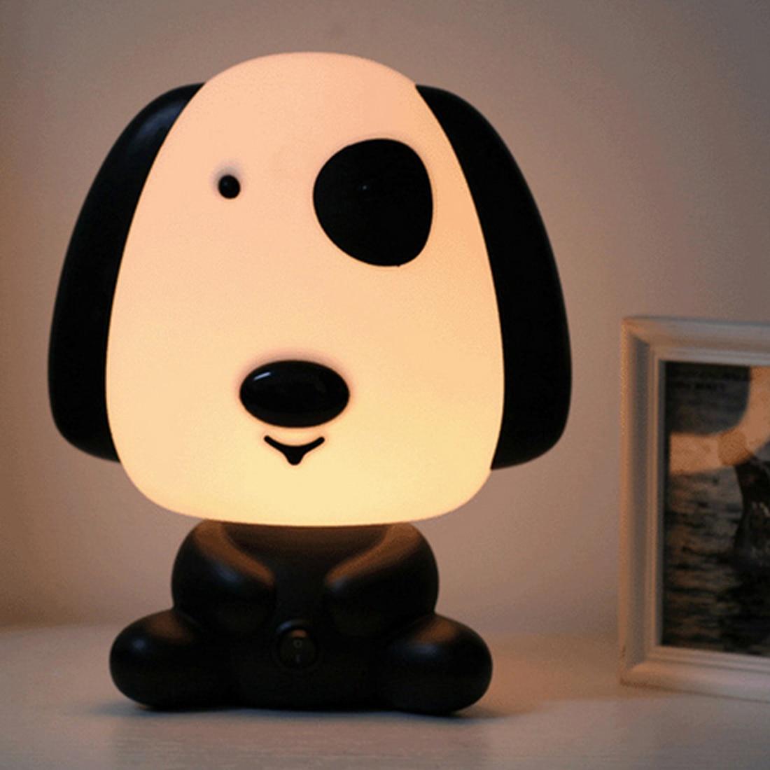 EU Plug Baby Bedroom Lamps Night Light Cartoon Pets Rabbit Panda PVC Plastic Sleep Led Lamp Bulb Nightlight For Children