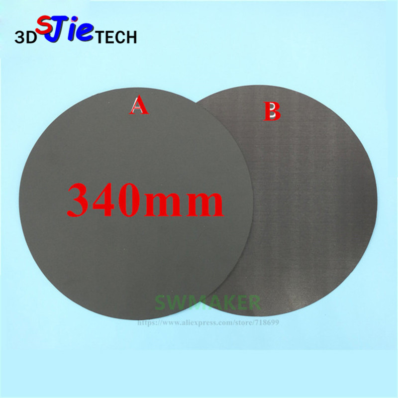 Round 340mm Magnetic Adhesive Print Bed Tape Print Sticker Build Plate Tape Flexplate For Diy Kossel/delta 3d Printer Parts Sale Overall Discount 50-70% Office Electronics