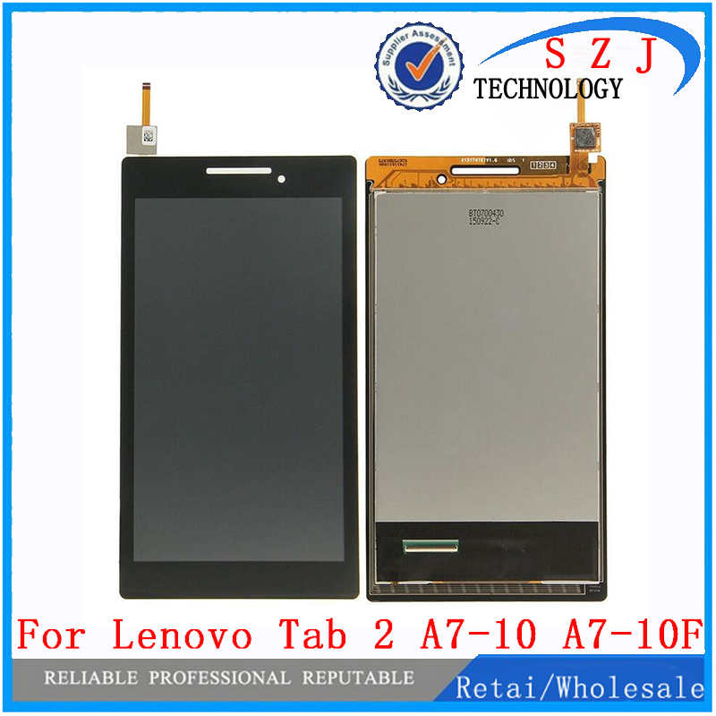 New 7'' inch LCD Display + Touch Screen Digitizer Assembly Replacements For Lenovo Tab 2 A7-10 A7-10F Free shipping kemei 110v 240v kemei hair trimmer rechargeable electric clipper professional barber hair cutting beard shaving machine electr