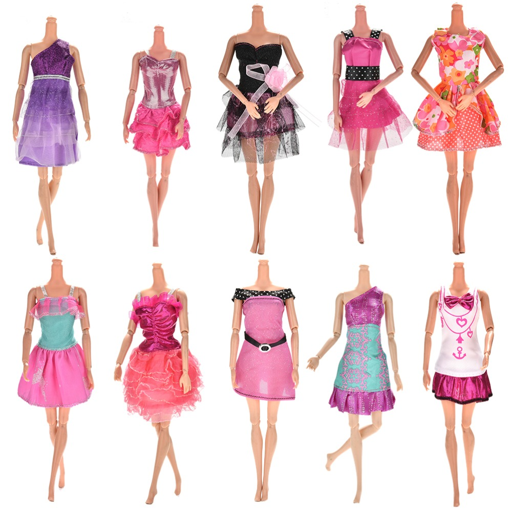 10-Pcslot-Fashion-Clothes-Casual-Party-Dress-Suits-For-Barbie-Doll-Best-Gift-Baby-Toy-Doll-Clothing-Sets-Randomly-Pick-Hot-Sell-1