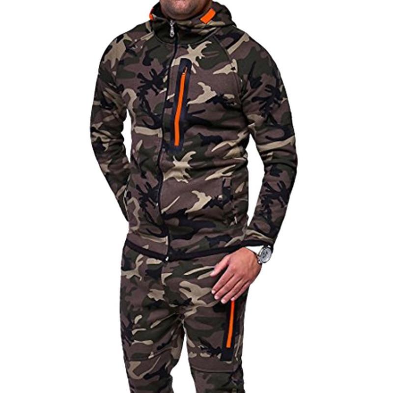 Humor Heflashor Plus Size Mannen Hoodie Jas Camouflage Print Hooded Vest Overjas Militaire Jas Mode Streetwear Bovenkleding 3xl